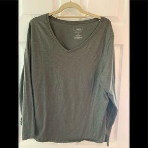 Sonoma shimmery green v-neck T-shirt